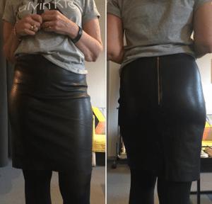 Nysyningsprojekt: Enkel nederdel i det lækreste bløde skind