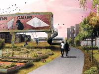 3D illustrationer er udarbejdet af  Alexander Kruse Bredgaard og Thor Vingolf Nielsen, studerede ved Aalborg Universitet - Urban Design. For Holstebro Kommune.