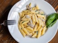 Tallerken med pasta, foto: KU