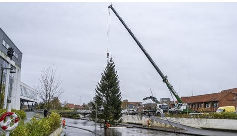 Juletræet kom flyvende